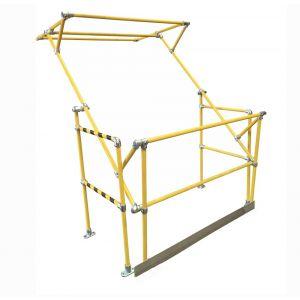 Atlas-Standard-Mezzanine-Pallet-Gate-1500mm Yellow Coated Tube
