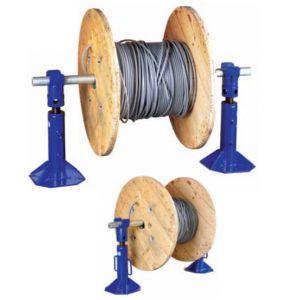Cable Drum Jacks - Screw type 3t, 6t & 8t Sets