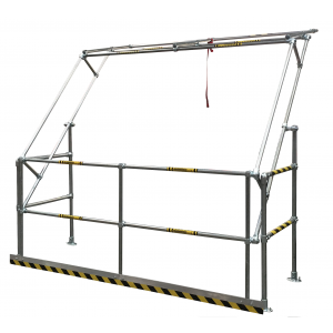 Gamma Standard Extra Wide Safety Pallet Gate -Galvanised finish