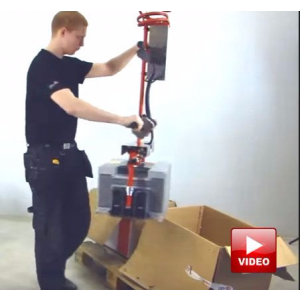 Lifts All Lifter for Handling and Packing Products into Boxes