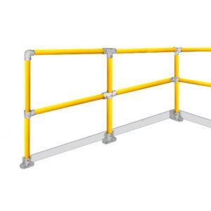Mezzanine safety yellow handrails