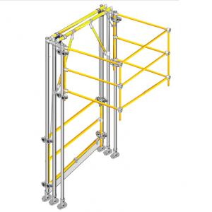Omega space saving pallet gate