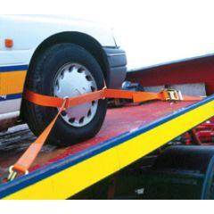 50mm wide Car Transporter ratchet strap with claw hooks