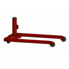 Thern 5BR5 Movable red powder coated base on wheels (includes red powder coated pedestal base) - 5BR5