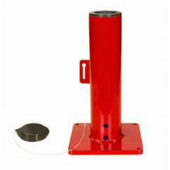 Thern 5BP5 Red Powder Coat Paint Base to mount on surface - 5BP5