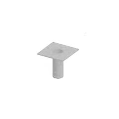 Thern 5BF20G Commander Series (5PT20) socket flush mount base - galvanized finish - 5BF20G
