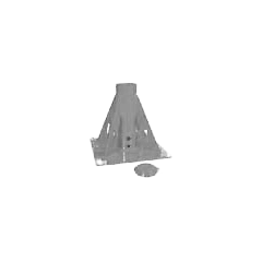 Thern 5BP20G Commander Series (5PT20) pedestal upright mount base - galvanized finish - 5BP20G