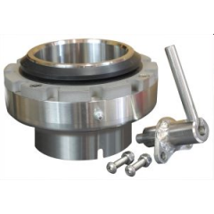 Thern 5PT10BRG ( Powder Coated ) Roller bearing - smooth and easy 360 ° crane rotation under load and locking pin - 5PT10BRG