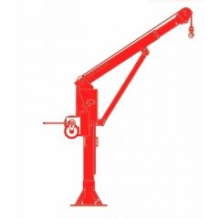 Thern 5PT30 Powder coated - Admiral Series 3000 LB / 1360 KG capacity stationary davit crane - with boom brace - no winch - 5PT30