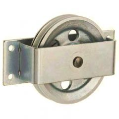 Back / wall mounted galvanised pulley complete with bracket for wire rope ( ETT-170 ) - 100 to 500 kg capacity