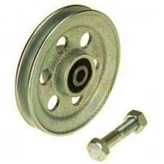 CAST IRON WIRE ROPE PULLEYS WITH BEARING AND FIXING BOLT ( ETT-74 ) - 200 to 1000 kg CAPACITY