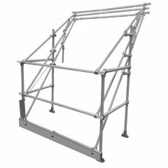 Delta Standard Low Headroom High Load Safety Pallet Gate Galvanised