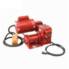 Thern E2 4WP2-KL red enamel electric winch – 230/1/50 VAC w/6 ft pendant control - 4WP2-KL