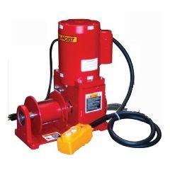 Thern E4 4777-K red enamel electric winch – 115/1/60 VAC w/6 ft pendant control - E4 4777-K
