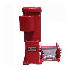 Thern E4DC 4777DC-K red enamel electric winch – 12 volt DC w/10 ft pendant control- 4777DC-K