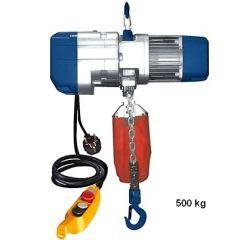 Warrior Light Duty Electric chain hoists 250 kg, 500 kg and 1000 kg 240V