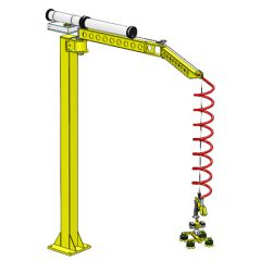 Lifts All Floor, Ceiling or Wall Mounted Articulated Flexi-Crane for repetitive handling jobs up to 65 kgs capacity
