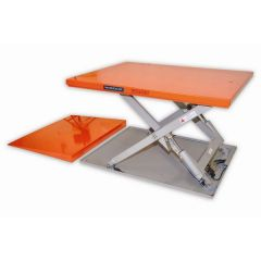 Full Top Low Profile Static Lift Table - 1,000 kg Capacity with Loading Ramp