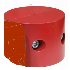 """Thern Headache Ball - Keeps winch rope taut when no load is attached. Attach to cable.-Red Painted  fits 1/4"""" to 3/8"""" Rope"""