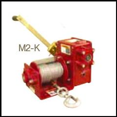 Thern M2 - 4WM2-K-CE enamel coated (power drill operation - see options)worm gear hand winch - M2-4WM2-K