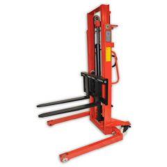 Manual Straddle Stacker with Adjustable Forks