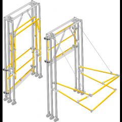 Omega-Nu- Space-Saving Fold-Up Pallet gate