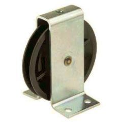 Polyamide wire rope pulley with galvanised steel bracket ( ETT-116P ) - 60 to 150 kg capacity