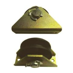 PTM Polyamide wire rope pulley with Zinc plated or stainless steel bracket - 125 kg capacity
