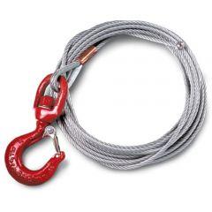 Thern WA25-28NS-CE20 Wire rope - 6,4 mm x 8,5 meter - galvanized - WA25-28NS-CE20