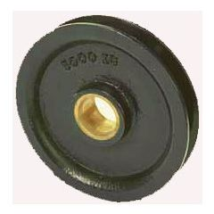 TYPE 1A CAST IRON WIRE ROPE PULLEYS WITH BRONZE BUSH - 500 to 3000 kg CAPACITY