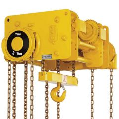 Yale VNRP / VNRG Compact low head room hoist with integrated push or geared trolley Capacities: 1500 - 24000 kg
