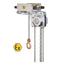 Yalelift YLLH (low headroom) ATEX Hand chain hoist with integrated push or geared trolley - Capacity 500 - 10000 kg