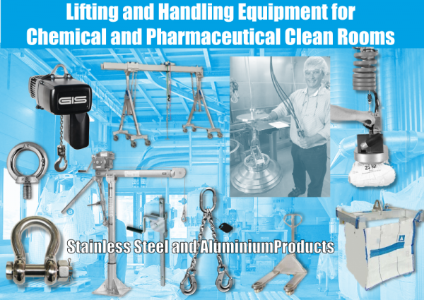 Lifting and Handling for Chemical and Pharmaceutical Clean Rooms