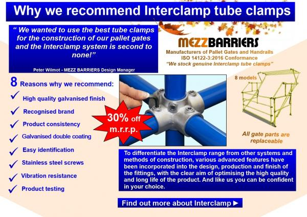 Why we recommend Interclamp tube clamps