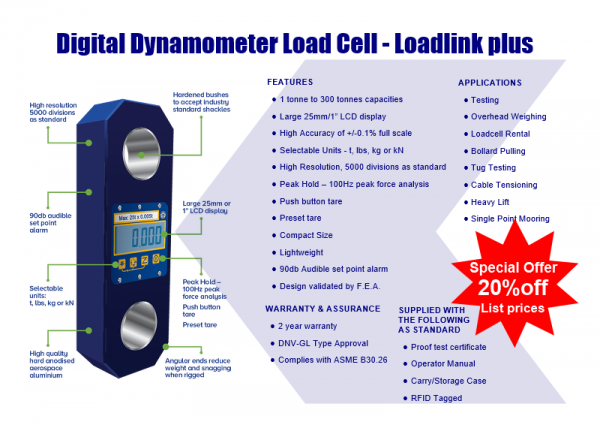 20 % OFF Digital Dynamometer Load Cell - Loadlink plus