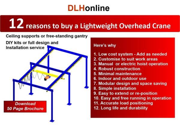 12 reasons to buy a Lightweight Overhead Crane
