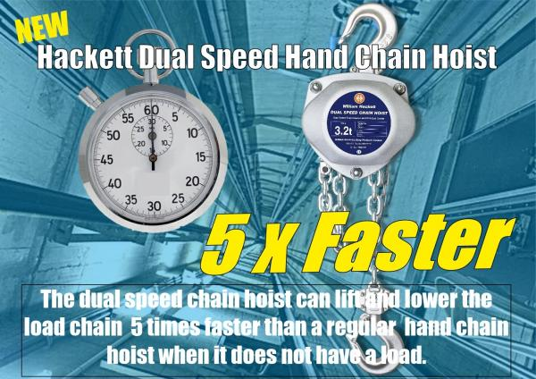Lift Faster with high speed manual chain block