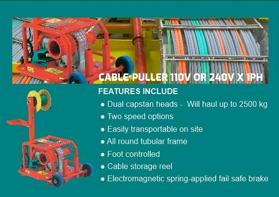 Portable Cable Laying Winch