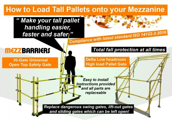How to Load Tall Pallets on to a Mezzanine Floor