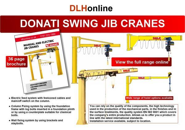 Donati Jib Cranes - Manual and Electrical Rotation