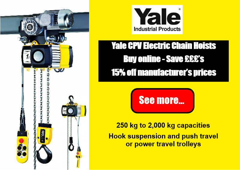 Product Feature - 15% off Yale Chain Hoists