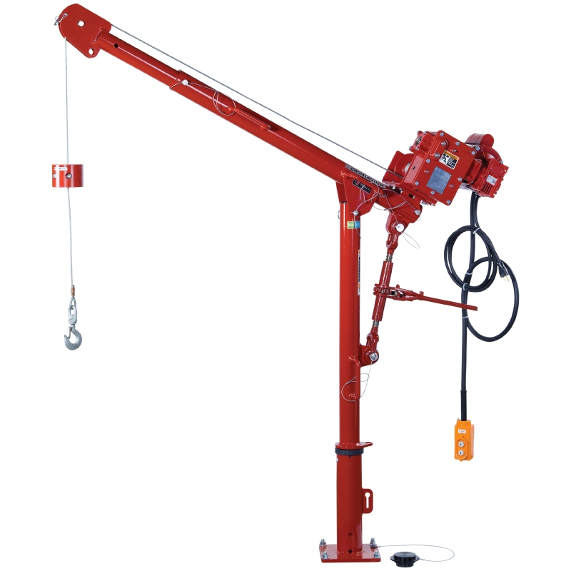 Thern Model 5PT5 lifting Davit with Thern E2 4WP2-K- enamel finish double worm gear powered winch