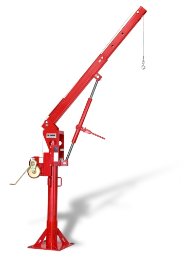 Admiral 3000 — Model 5PT30J crane with screw-jack, M452B-K spur gear hand winch and 5BP30 pedestal base.
