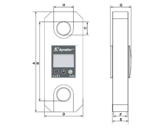 LLX1 Key dimensions