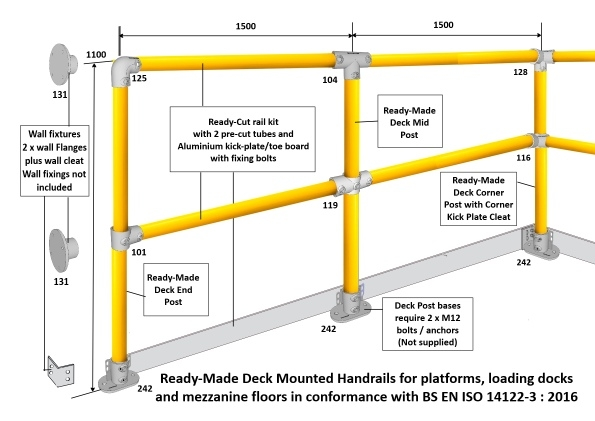Yellow Handrail layout