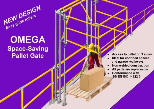 Omega pallet gate