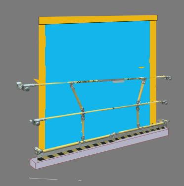 Sigma-pallet-gate for roller-shutter