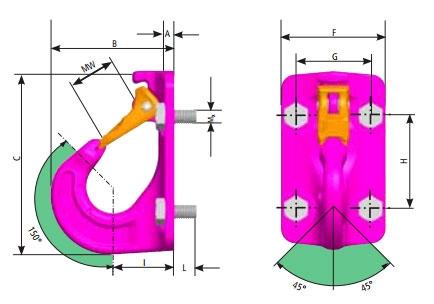 VABH-8 Sizes key