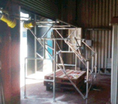 Loading dock safeyty pallet gate