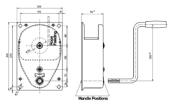 Hand winch type HA-SGS